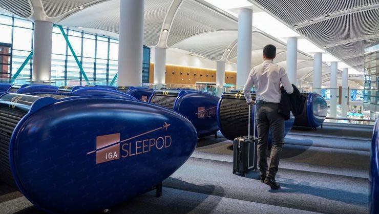 სტამბოლის აეროპორტში ჭკვიანი საძილე კაფსულები გამოჩნდა